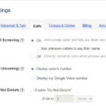 Google Voice and unknown callers